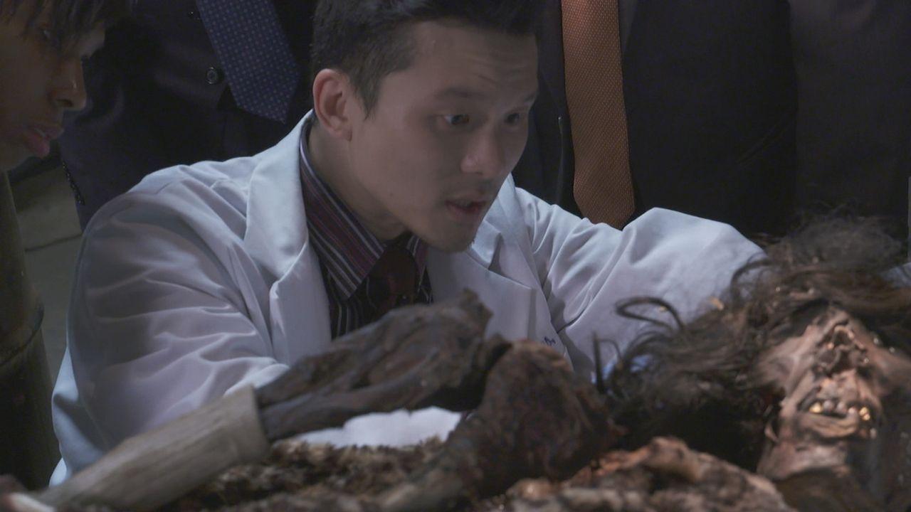 Mumie statt Mami: Der Forensiker untersucht die mumifizierten Überreste der im achten Monat schwangeren Reina Angelica Marroquin. Die Leiche hatte j... - Bildquelle: LMNO Cable Group