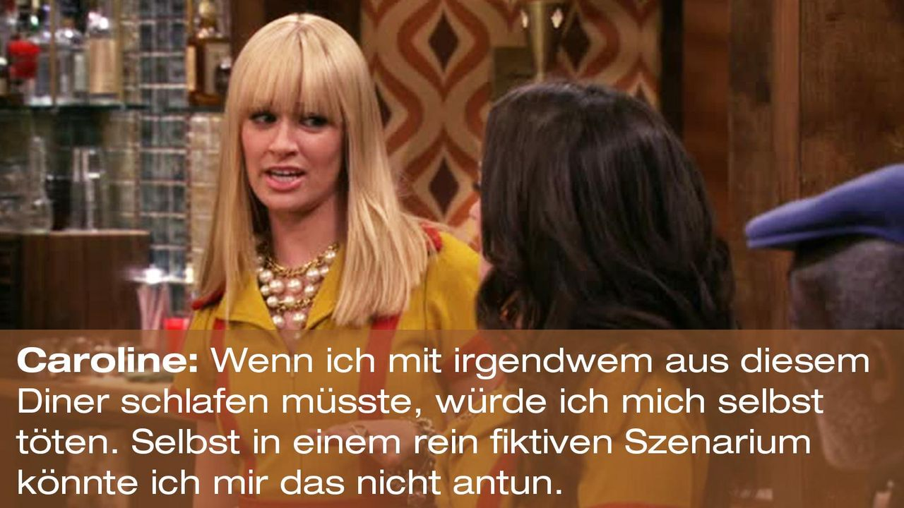 2-broke-girls-zitat-quote-staffel2-episode10-grosse-eroeffnung-caroline-toeten-warnerpng 1600 x 900 - Bildquelle: Warner Bros. International Television