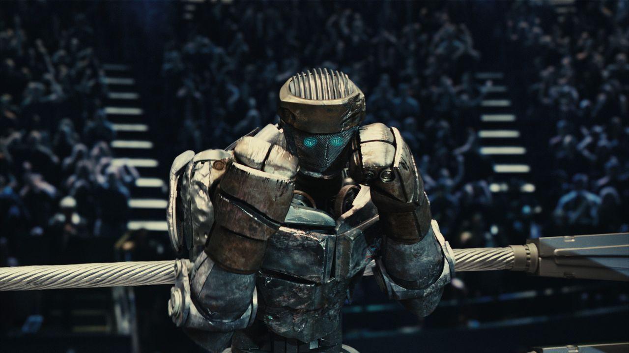 Notdürftig setzen Bailey und Max den alten Roboter vom Schrottplatz, Atom genannt, instand. Als dieser menschliche Bewegungen imitiert, wird deutli... - Bildquelle: Greg Williams, Melissa Moseley DREAMWORKS STUDIOS.  All rights reserved