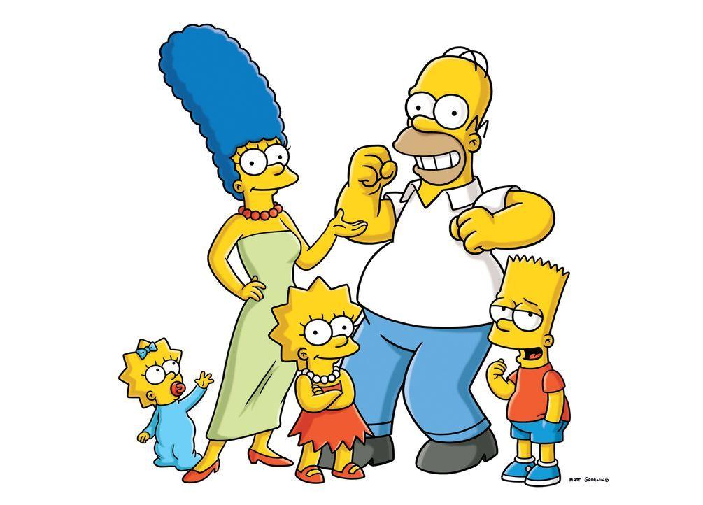 (24. Staffel) - Die Simpsons sind eine nicht alltägliche Familie: (v.l.n.r.) Maggie, Marge, Lisa, Homer und Bart ... - Bildquelle: und TM Twentieth Century Fox Film Corporation - Alle Rechte vorbehalten