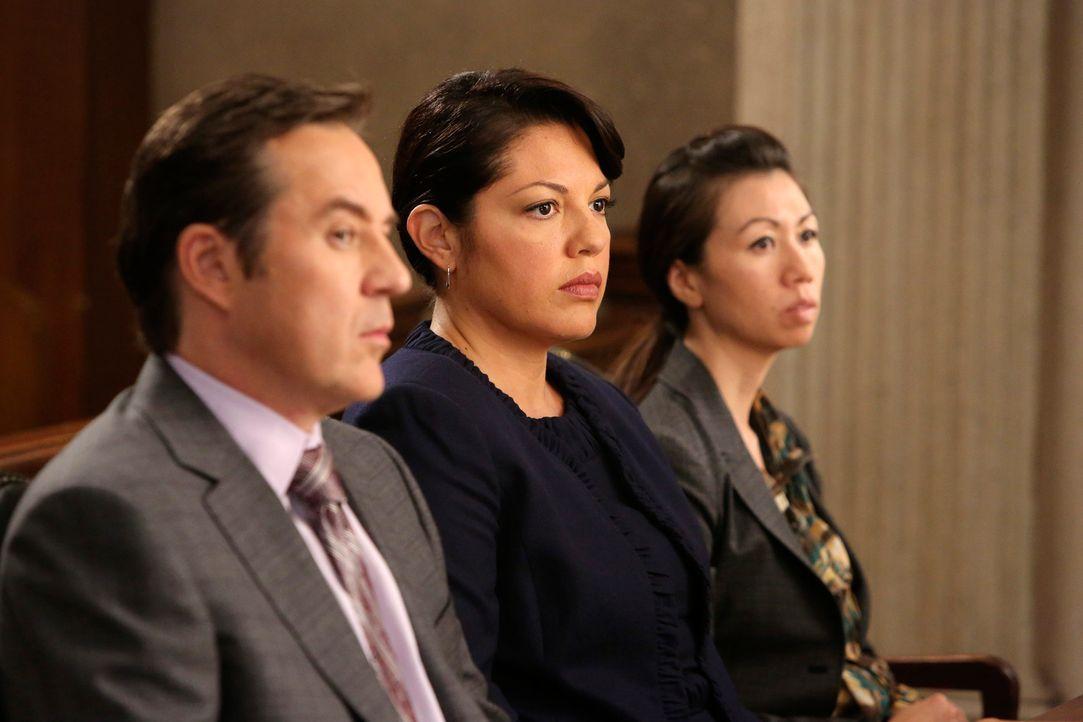 Greg (Currie Graham, l.) versucht alles, um Callie (Sara Ramirez, r.) glimpflich davonkommen zu lassen, doch das ist nicht so einfach ... - Bildquelle: ABC Studios