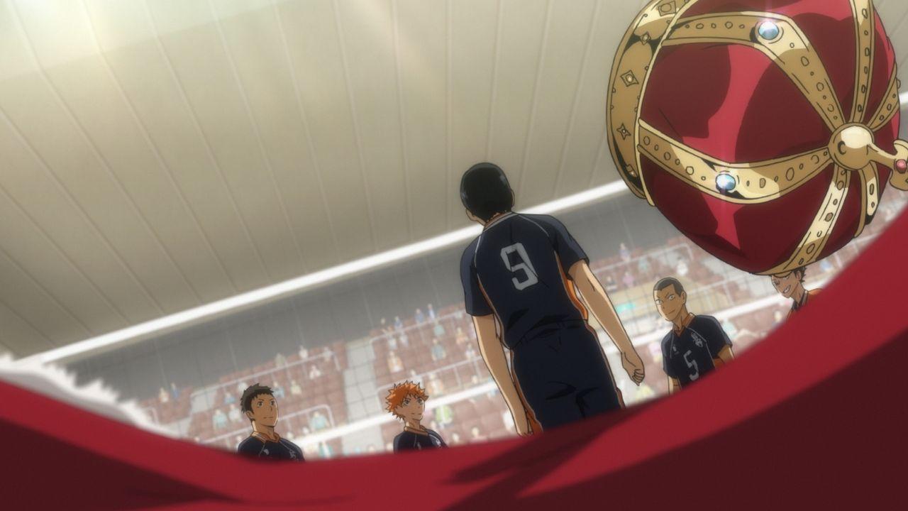"(v.l.n.r.) Daichi Sawamura; Shoyo Hinata; Tobio Kageyama; Ryunosuke Tanaka; Yu Nishinoya - Bildquelle: H.Furudate / Shueisha,""Haikyu!!?Project, MBS"