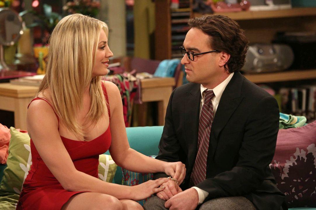 Es ist Valentinstag, und Leonard (Johnny Galecki, r.) verspricht Penny (Kaley Cuoco, l.) ein unvergessliches Erlebnis. Allerdings entwickelt sich ih... - Bildquelle: Warner Bros. Television