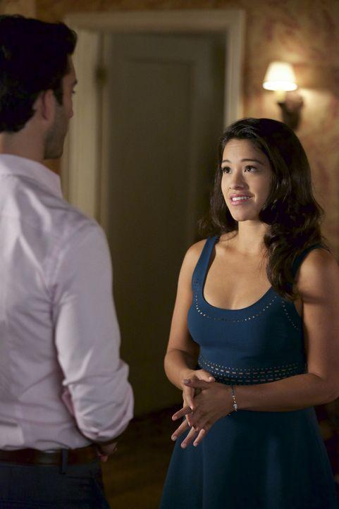 Die Tatsache, das Petra ein Kind von Rafael (Justin Baldoni, l.) erwartet, ist nicht leicht für Jane (Gina Rodriguez, r.), während Michael einen neu... - Bildquelle: Tyler Golden 2015 The CW Network, LLC. All rights reserved.