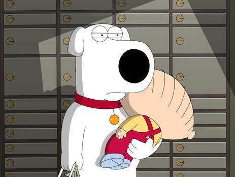 Family Guy - Brian (l.) macht sich in Begleitung von Stewie (r.) an seinem Ba...