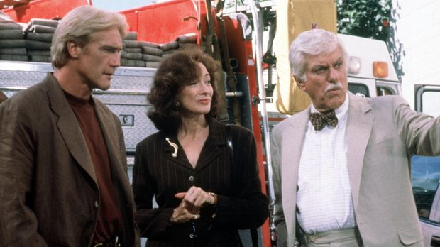 Steve (Barry Van Dyke, l.), Patricia Purcell (Dixie Carter, M.) und Dr. Mark...