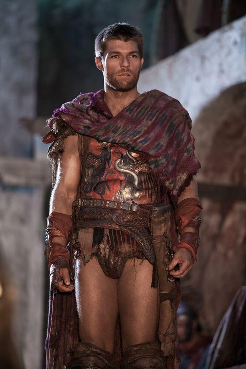 Um Crassus und seinen Legionen zu entkommen, entwickelt Spartacus (Liam McIntyre) einen ausgeklügelten Plan. Doch unglücklicherweise wird dieser von... - Bildquelle: 2012 Starz Entertainment, LLC. All rights reserved.