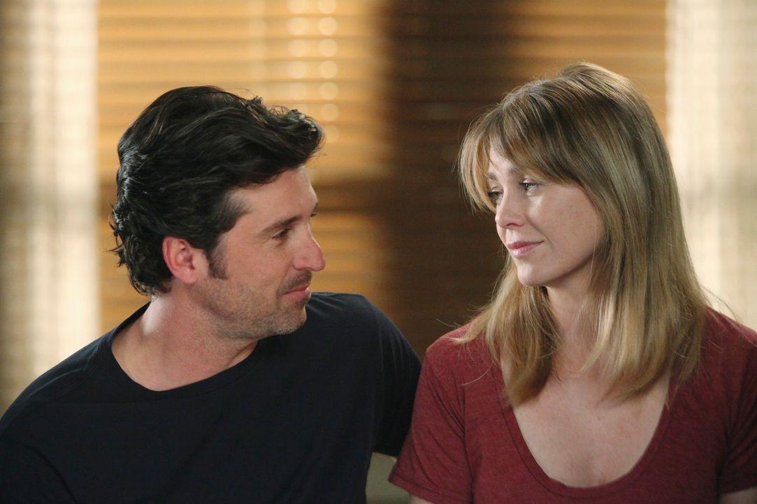 Während sich Derek (Patrick Dempsey, l.) und Meredith (Ellen Pompeo, r.) unbedingt ein Baby wünschen, stehen Callie, Arizona und Mark vor einer komp... - Bildquelle: ABC Studios