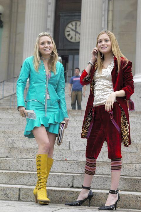 Gelingt es Jane (Ashley Olsen, l.) und Roxy (Mary-Kate Olsen, r.) noch pünktlich zu dem wichtigen Stipendiumstermin zu erscheinen? - Bildquelle: Warner Brothers International Television