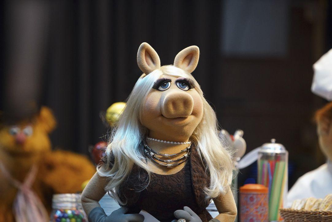Miss Piggy hat nach ihrem Missgeschick auf dem roten Teppich mit der Wut der Zuschauer zu kämpfen, Kermit und die Gang stellen sich jedoch unterstüt... - Bildquelle: Andrea McCallin ABC Studios