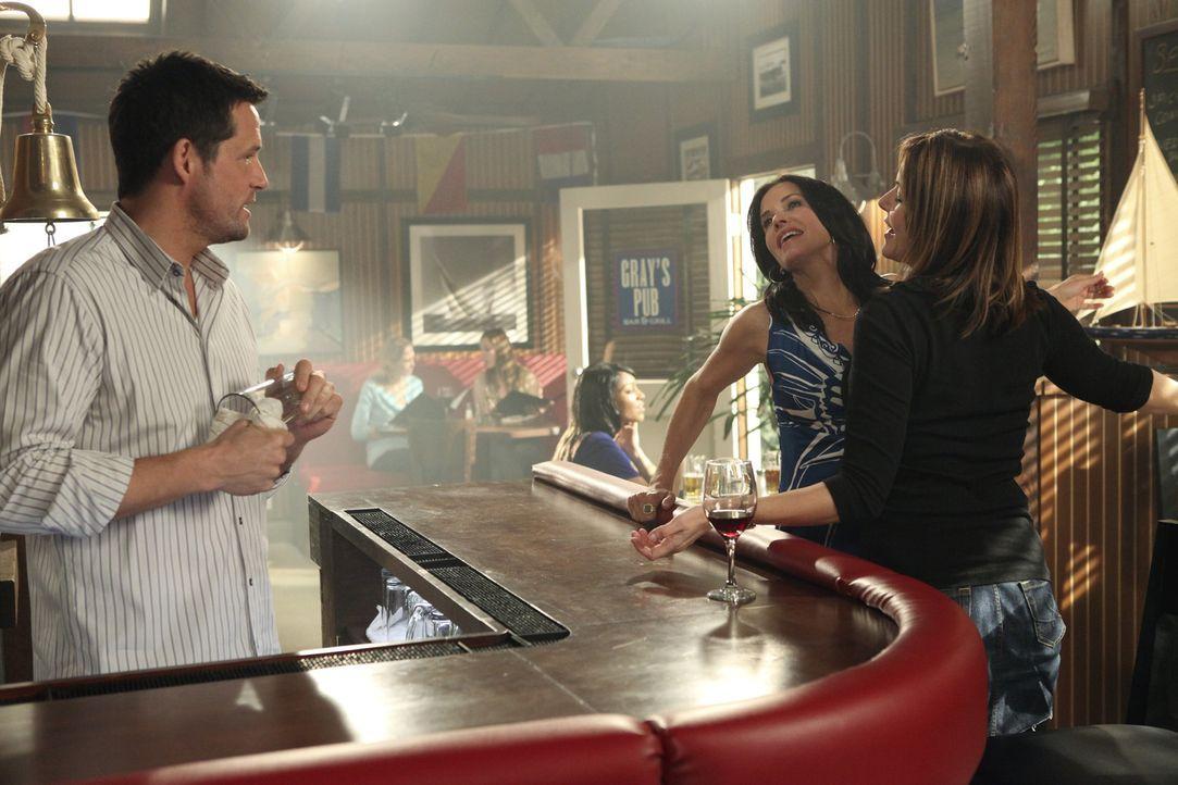 Wollen dem Alkohol abschwören: Jules (Courteney Cox, M.), Grayson (Josh Hopkins, l.) und Ellie (Christa Miller, r.) ... - Bildquelle: 2009 ABC INC.