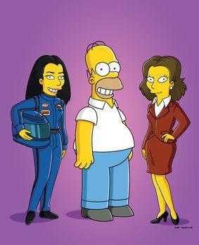 Die Simpsons - Rennfahrerin Danica Patrick (l.) und Schauspielerin Rachel Wei...