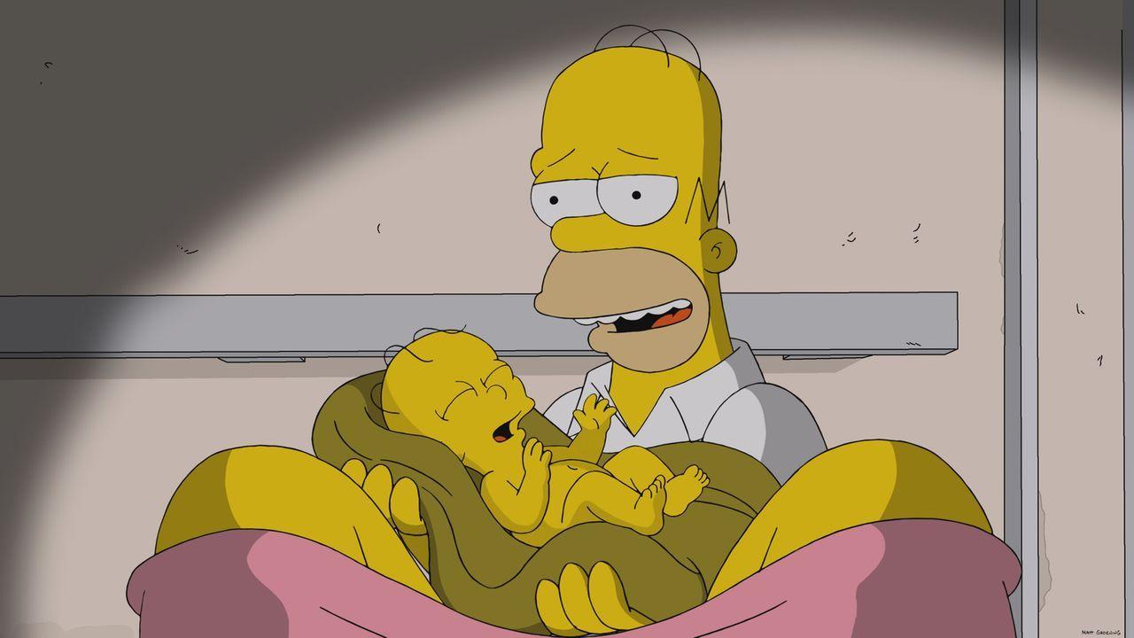 Homer (oben) als Geburtshelfer ... - Bildquelle: 2013 Twentieth Century Fox Film Corporation. All rights reserved.