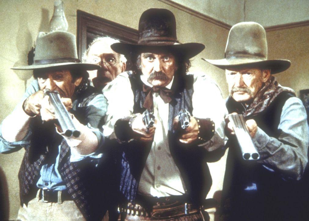 Der Sheriff von Barton (Sunshine Parker, M.) will Isaiah Edwards verhaften, weil er im Verdacht steht, zusammen mit den Younger Brüdern die Postkut... - Bildquelle: Worldvision