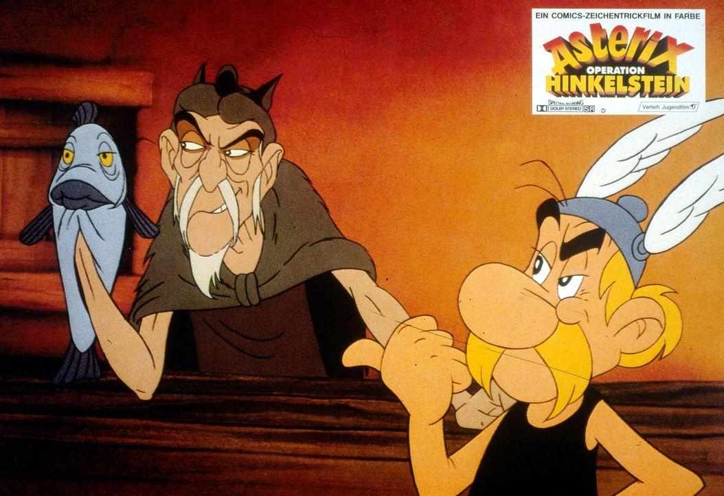 Dem gallischen Seher Lügfix (l.) gelingt es, fast die gesamte Dorfbevölkerung mit seinen Prophezeihungen zu verwirren. Nur Asterix (r.) bleibt misst... - Bildquelle: Jugendfilm-Verleih GmbH