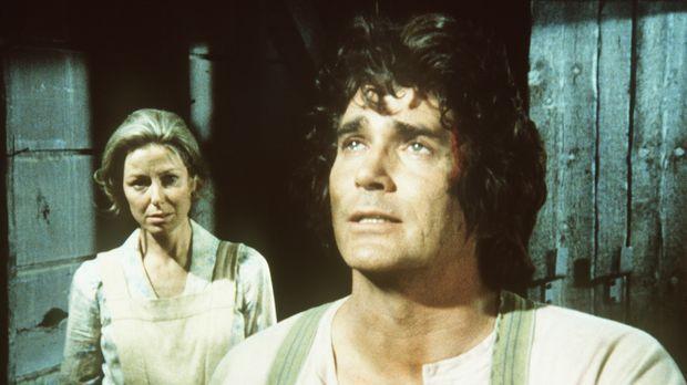 Caroline (Karen Grassle, l.) und ihr Mann Charles (Michael Landon, r.) verste...