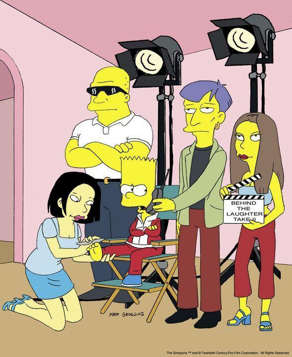 """Bart (vorne, 3.v.l.) als Darsteller in der selbst gedrehten """"Simpsons""""-Serie. - Bildquelle: und TM Twenthieth Century Fox Film Corporation - Alle Rechte vorbehalten"""