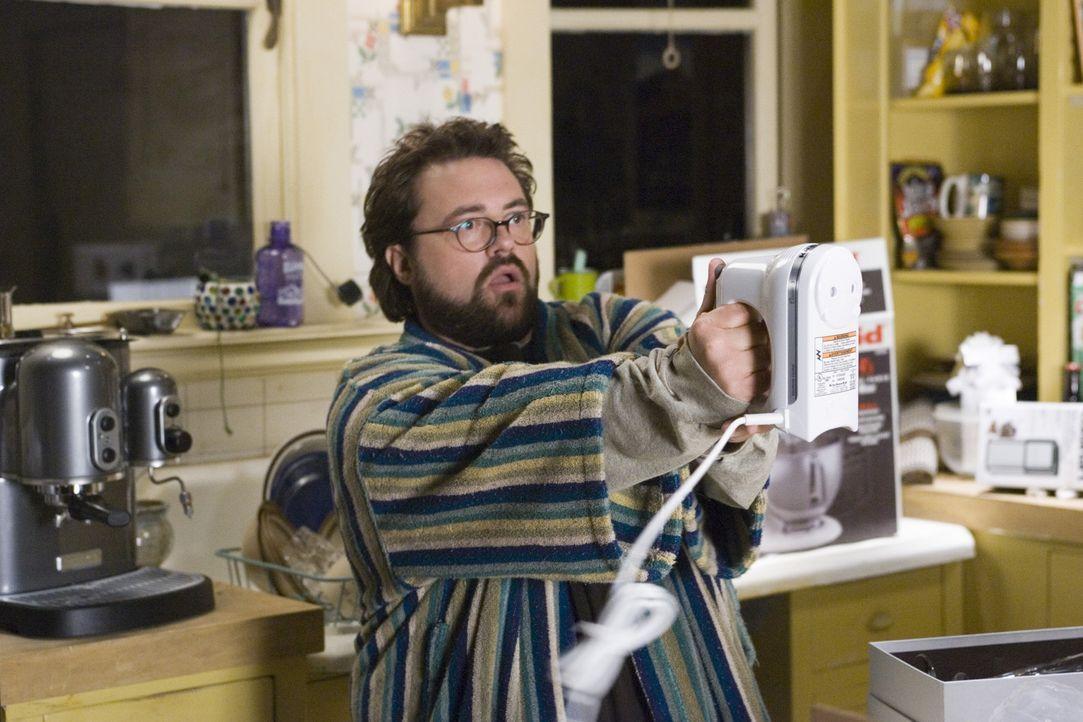 Als Gray nach dem Tod ihres Verlobten aus Geldnot bei Freunden (Kevin Smith) einziehen muss, sind immerhin die vielen praktischen Haushaltsgeräte,... - Bildquelle: Sony Pictures Television International