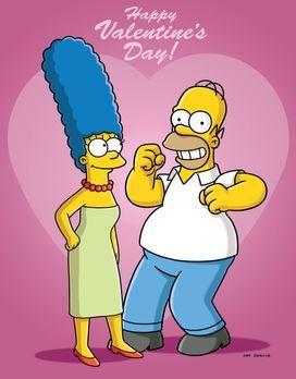Die Simpsons - Homer (r.) und Marge (l.) haben ein schönes Rendezvous geplant...