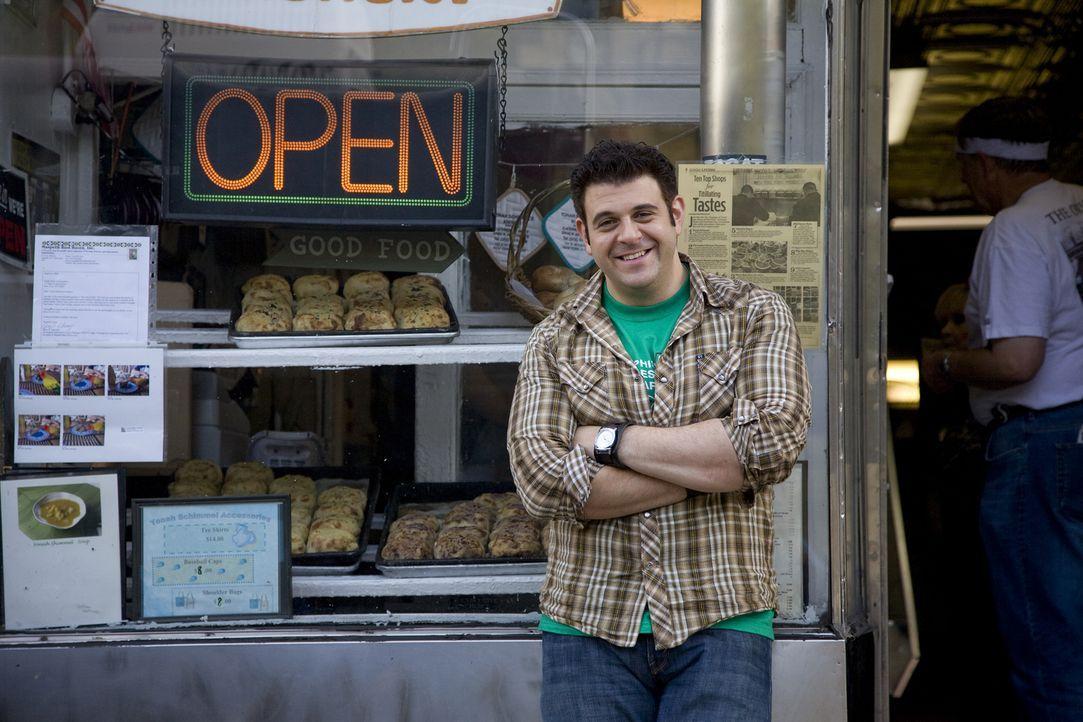 Adam Richman reist auf der Suche nach kulinarischen Perlen durch ganz Amerika. Diesmal widmet er sich den klassischen amerikanischen Lieblingsgerich... - Bildquelle: 2008, The Travel Channel, L.L.C.
