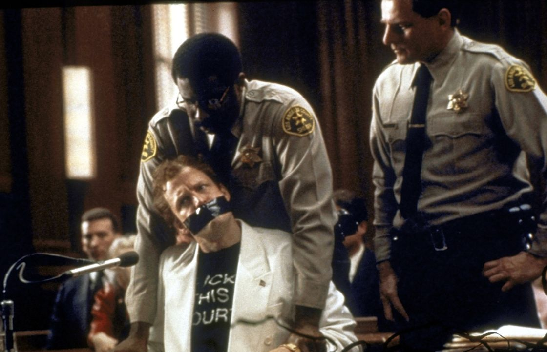 Will sich den Mund nicht verbieten lassen: Larry Flynt (Woody Harrelson, l.) - Bildquelle: Columbia Pictures