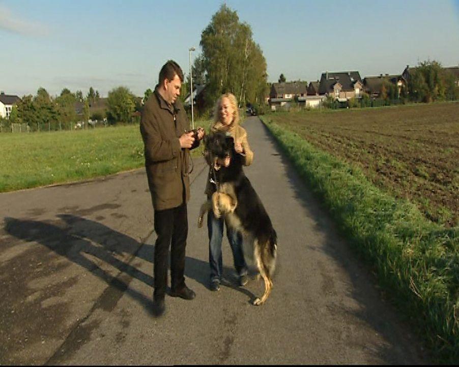 Familie Kosanke (Bild) hat Probleme mit ihrem Hund. Da kann nur eine helfen: Hundetherapeutin Stefanie ... - Bildquelle: SAT.1 Gold