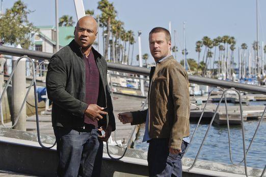 Navy CIS: L.A. - Als Sam (LL Cool J, l.) verhaftet wird, da er angeblich eine...