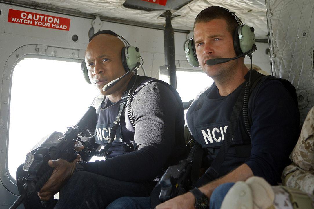 Ein neuer Einsatz wartet auf Callen (Chris O'Donnell, r.) und Sam (LL Cool J, l.) ... - Bildquelle: CBS Studios Inc. All Rights Reserved.