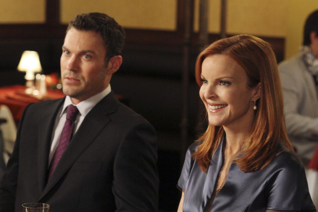 Keith (Brian Austin Green, l.) plant ein besonderes Abendessen mit Bree (Marcia Cross, r.). Doch wird er Erfolg damit haben? - Bildquelle: ABC Studios