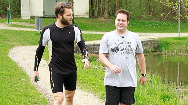 Tim trainiert für den Marathon