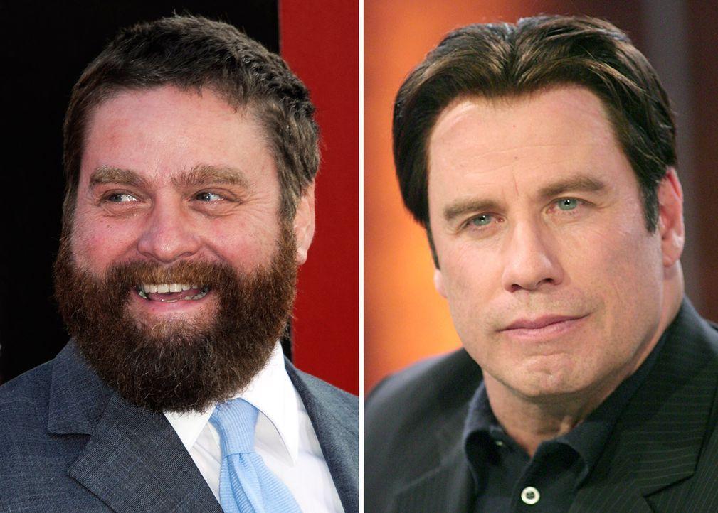 Zach-Galifianakis-John-Travolta - Bildquelle: dpa
