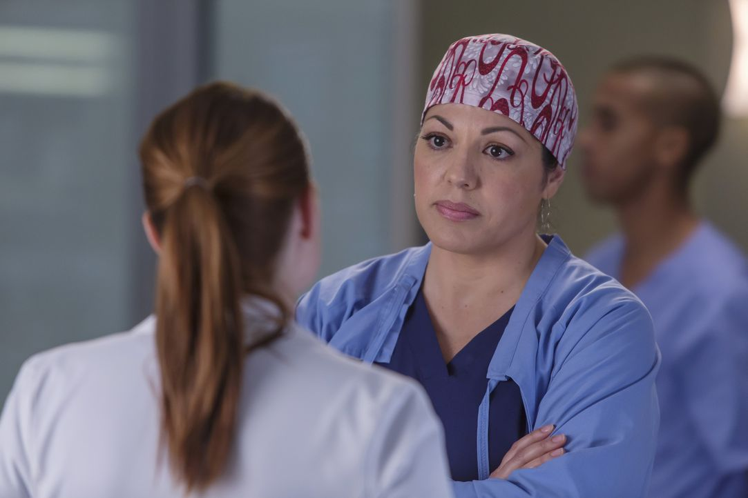 Während Meredith einen Schritt auf Will zugeht, es dann doch ganz schnell wieder bereut, wird Callies (Sara Ramirez) Tochter Sofia in die Klinik ein... - Bildquelle: Ron Batzdorff ABC Studios