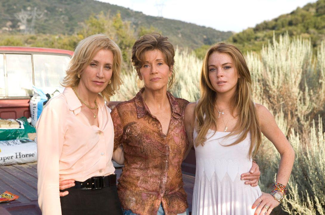 Endlich finden (v.l.n.r.) Lilly (Felicity Huffman), Georgia (Jane Fonda) und Rachel (Lindsay Lohan) den Mut, sich ihrem bedrückenden Familiengeheimn... - Bildquelle: Morgan Creek International