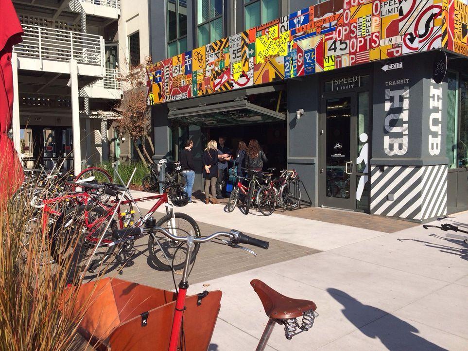 Der Bike-Shop mitten auf dem Campus