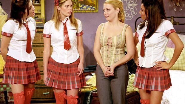 Sabrina (Melissa Joan Hart, 2.v.r.) hat Morgan das Leben gerettet und damit d...