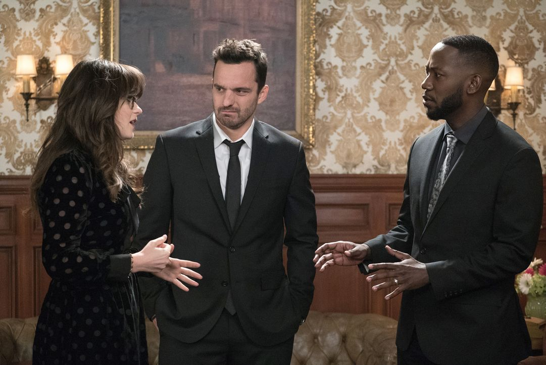 Lüften einige Geheimnisse: Jess (Zooey Deschanel, l.), Nick (Jake Johnson, M.) und Winston (Lamorne Morris, r.) ... - Bildquelle: Jesse Giddings 2018 Fox and its related entities.  All rights reserved.