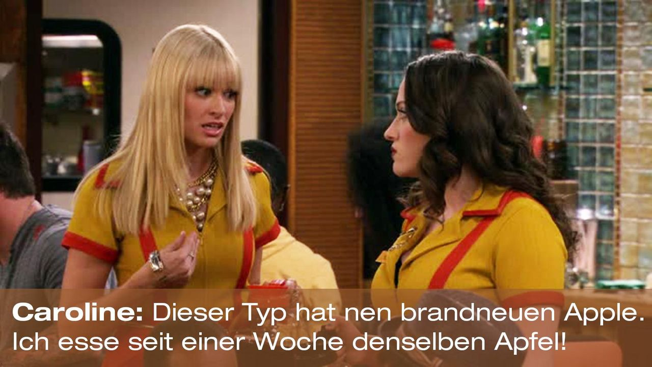 2-broke-girls-zitat-quote-staffel2-episode6-suesse-versuchung-caroline-apple-warnerpng 1600 x 900 - Bildquelle: Warner Brothers Entertainment Inc.