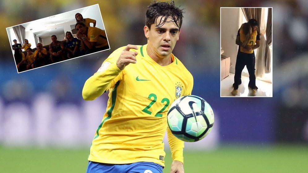 Rechtsverteidiger Fagner fährt mit Brasilien zur WM - seine Familie rastet a... - Bildquelle: Imago/twitter@AlexNegrunes/fagneroficial23@instagram