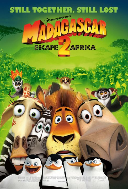 Madagascar: Escape 2 Africa - Plakatmotiv - Bildquelle: (2008) DREAMWORKS ANIMATION LLC. ALL RIGHTS RESERVED.