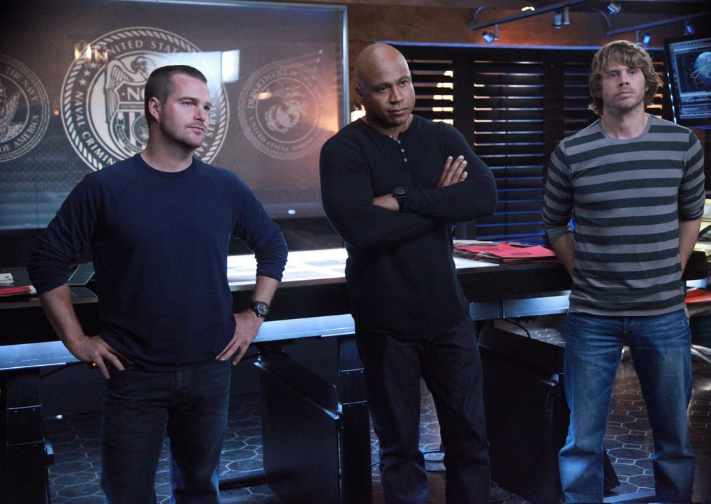 Ermitteln undercover in einem neuen Fall: Callen (Chris O'Donnell, l.), Sam (LL Cool J, M.) und Deeks (Eric Christian Olsen, r.) ... - Bildquelle: CBS Studios Inc. All Rights Reserved.