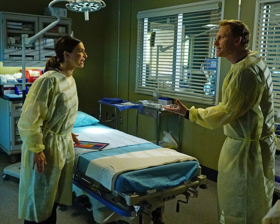 Owen (Kevin McKidd, r.) und Amelia (Caterina Scorsone, l.) werden bei einem gemeinsamen Fall mit ihren Problemen konfrontiert, während Diane Pierce... - Bildquelle: Richard Cartwright 2016 American Broadcasting Companies, Inc. All rights reserved.