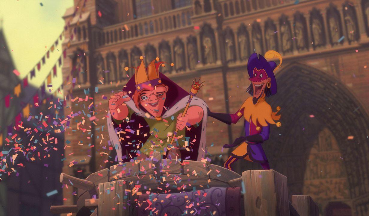 Als sich der bucklige Glöckner von Notre Dame verbotenerweise in das bunte Getümmel des Pariser Narrenfestes stürzt, gewinnt er den Preis für das hä... - Bildquelle: The Walt Disney Company