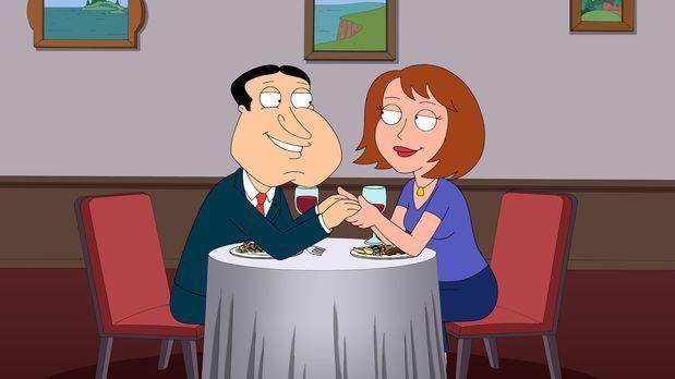 Family Guy - Noch ahnt Quagmire (l.) nicht, was mit Sonja (r.), seiner neuen...