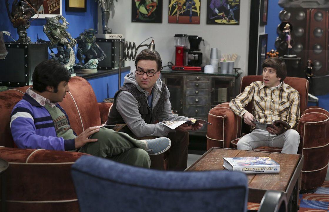 Während Sheldon in einem Dilemma steckt planen Howard, Leonard und Raj bereits ihren Abend ... - Bildquelle: 2015 Warner Brothers