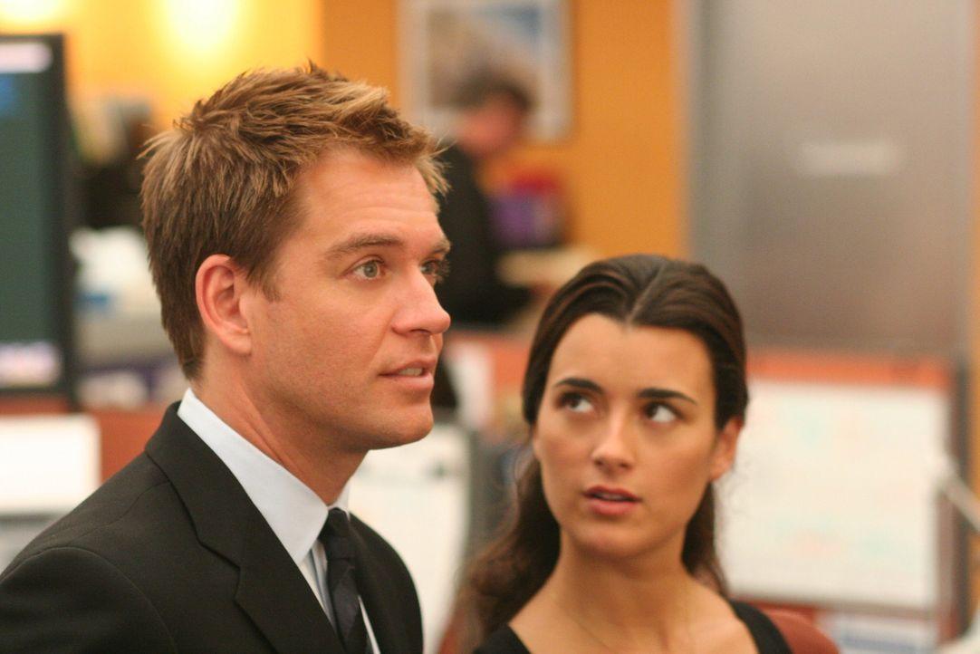 Ein neuer Fall bereitet ihnen Kopfzerbrechen: Ziva (Cote de Pablo, r.) und Tony (Michael Weatherly, l.) ... - Bildquelle: CBS Television
