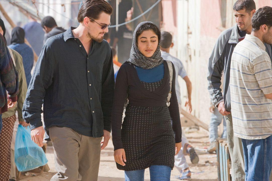 Als Ferris' (Leonardo DiCaprio, l.) neue Freundin Aisha (Golshifteh Farahani, r.) entführt wird, riskiert der junge CIA-Agent Kopf und Kragen, um si... - Bildquelle: Warner Brothers