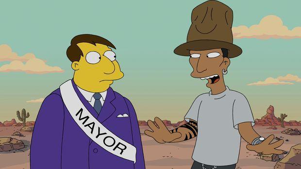 Was passiert nur mir Springfield? Bürgermeister Quimby (l.) ist ratlos: Nicht...