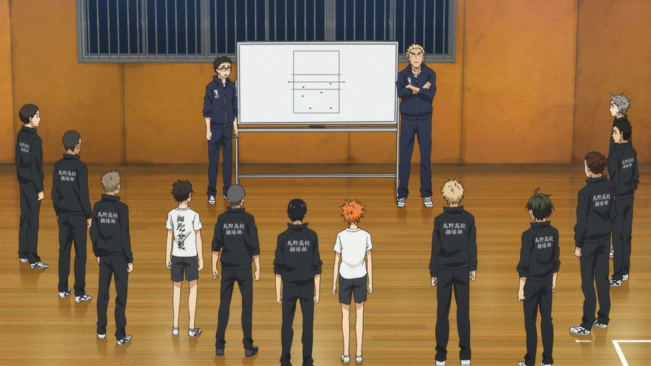 """Das Team der Karasuno Oberschule - Bildquelle: H.Furudate / Shueisha,""""Haikyu!!?Project, MBS"""