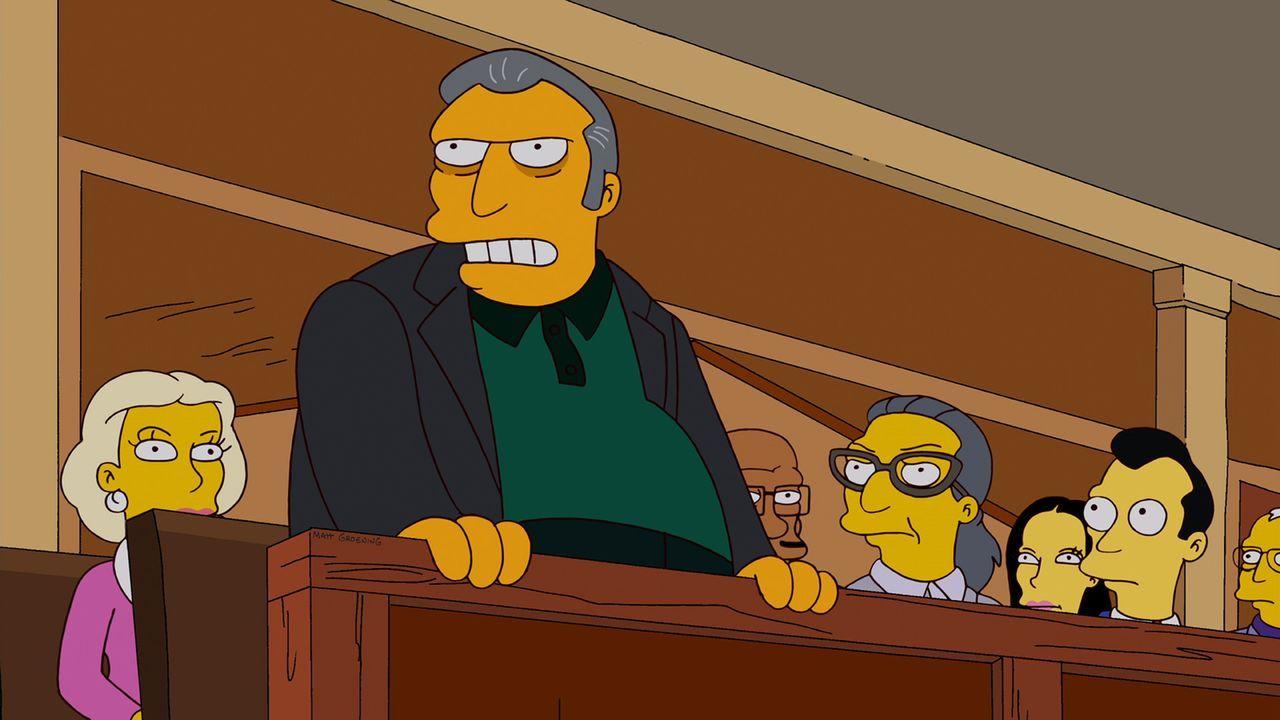 Homer ist geschockt, als er entdeckt, dass sein Bowling-Teamkollege Dan Gillick für Fat Tony (stehend) und die Mafia arbeitet ... - Bildquelle: und TM Twentieth Century Fox Film Corporation - Alle Rechte vorbehalten