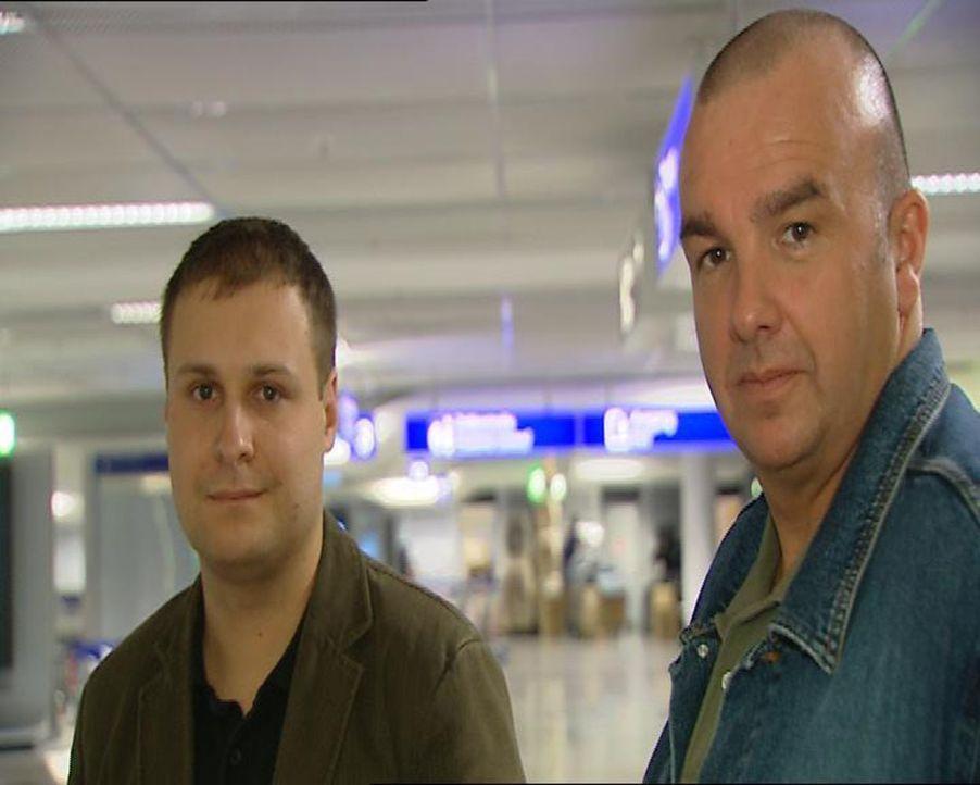 Neues von Rademacher (l.) und Koch (r.), den Zollbeamten am Frankfurter Flughafen, denen nichts entgeht! - Bildquelle: Sat.1